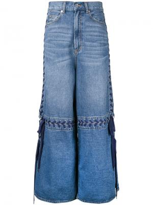 Lace-up wide leg jeans G.V.G.V.. Цвет: синий