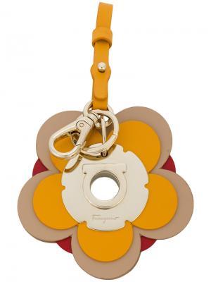 Брелок в виде цветка Gancino Salvatore Ferragamo. Цвет: жёлтый и оранжевый