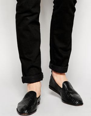 Hudson London Плетеные лоферы Ipanema. Цвет: черный
