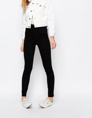 Rollas Укороченные джинсы с завышенной талией Eastcoast. Цвет: черный
