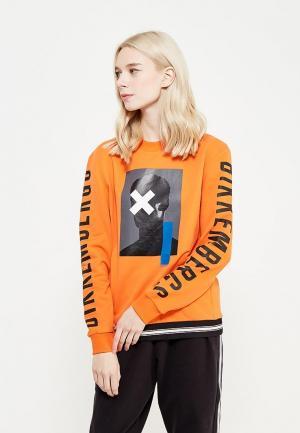 Свитшот Bikkembergs. Цвет: оранжевый