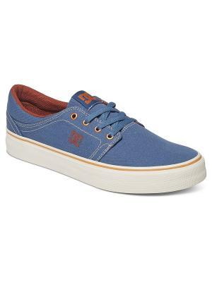Кеды DC Shoes. Цвет: серо-голубой, белый