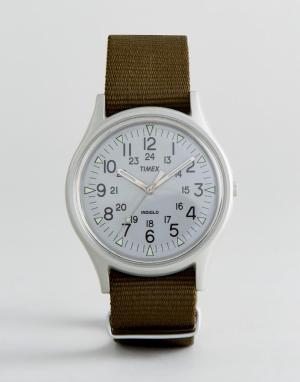 Timex Часы из алюминия с зеленым ремешком MK1. Цвет: зеленый
