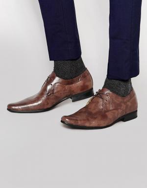 Front Строгие туфли на шнуровке. Цвет: коричневый