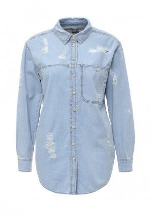 Рубашка Topshop. Цвет: голубой