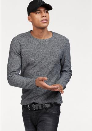 Пуловер JOHN DEVIN. Цвет: черный/меланжевый