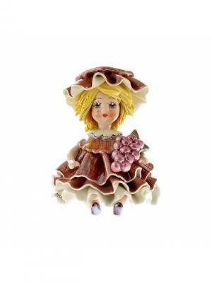 Статуэтка Девочка Осень Zampiva. Цвет: светло-коричневый, кремовый