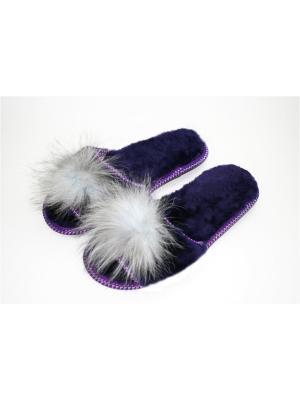 Тапочки Тефия. Цвет: фиолетовый, серо-голубой, серебристый, сиреневый