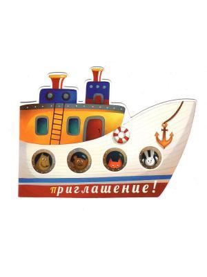 Комплект приглашений Корабль Даринчи. Цвет: белый