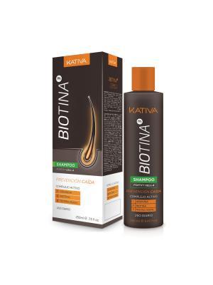 BIOTINA Шампунь против выпадения волос с биотином 250мл Kativa. Цвет: серый