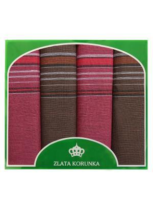 Платок носовой ZLATA KORUNKA. Цвет: коричневый, малиновый