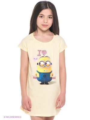 Ночная сорочка Миньоны Despicable Me, Minion Made. Цвет: светло-желтый