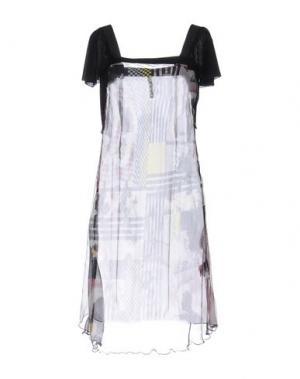 Платье до колена PIANURASTUDIO. Цвет: баклажанный