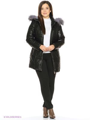 Кожаная куртка OSTRICH. Цвет: черный