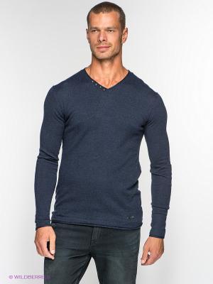 Пуловер Mezaguz. Цвет: темно-синий