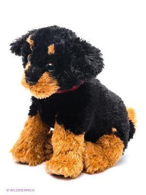 Мягкая игрушка Щенок ротвейлер TY. Цвет: черный, коричневый