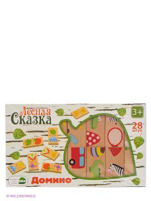 Деревянная игрушка ЛС домино Окружающий мир, 28 дет. VELD-CO. Цвет: бежевый, красный