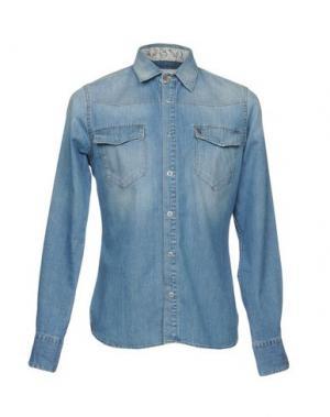 Джинсовая рубашка MAISON CLOCHARD. Цвет: синий