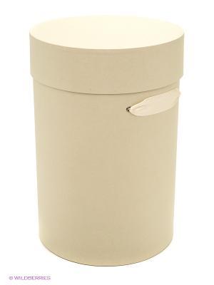 Коробка картонная цилиндр VELD-CO. Цвет: бежевый