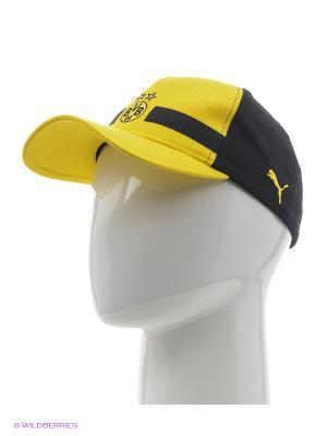 Бейсболка BVB Leisure Cap Puma. Цвет: желтый, черный