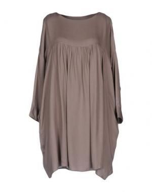 Короткое платье EUROPEAN CULTURE. Цвет: голубиный серый