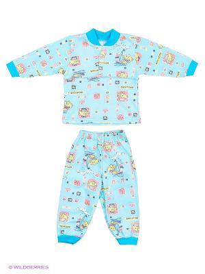 Пижама Babycollection. Цвет: светло-голубой, бирюзовый