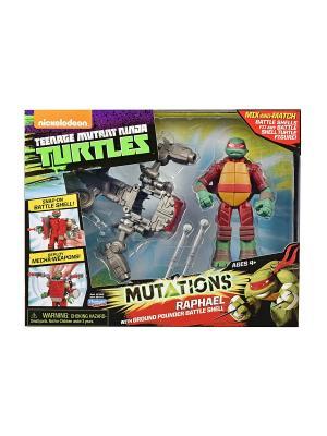Черепашки-ниндзя супер-боевые панцири, Рафаэль,  Mutation Playmates toys. Цвет: красный