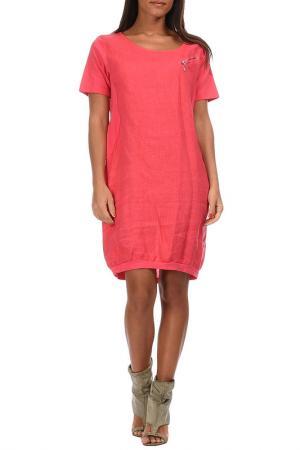 Платье Couleur lin. Цвет: красный