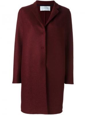 Пальто на кнопках Harris Wharf London. Цвет: красный