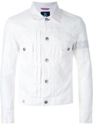 Джинсовая куртка Guild Prime. Цвет: белый
