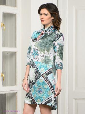 Платье MARY MEA. Цвет: светло-зеленый, светло-голубой, светло-серый