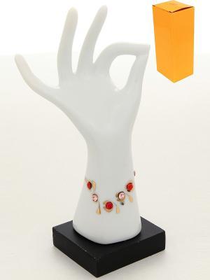 Подставка для колец Рука с браслетом правая Elan Gallery. Цвет: белый