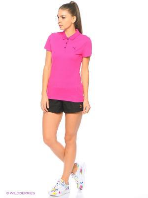 Футболка-поло ESS Polo W Puma. Цвет: розовый