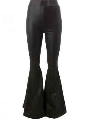 Панельные расклешенные брюки Faith Connexion. Цвет: чёрный