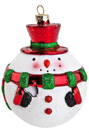 Украшение Снеговик Mister Christmas. Цвет: белый, красный