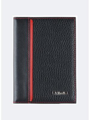 Бумажник водителя, БРУНО красный Domenico Morelli. Цвет: черный