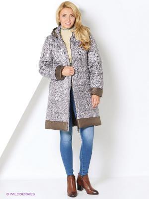 Пальто DizzyWay. Цвет: светло-серый, антрацитовый