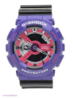 Часы G-Shock GA-110NC-6A CASIO. Цвет: черный, фиолетовый