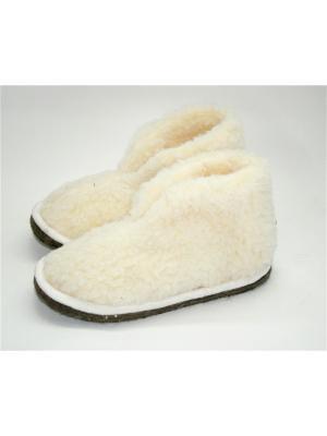 Туфли комнатные - чуни Тефия. Цвет: молочный, белый