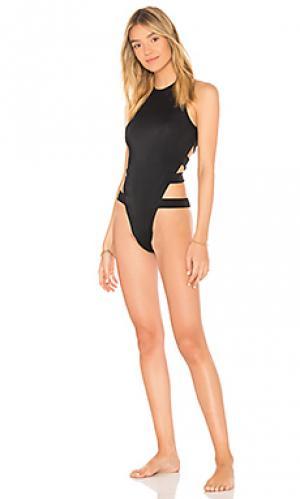 Слитный купальник leeloo OYE Swimwear. Цвет: черный