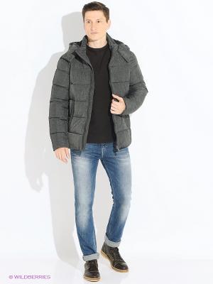 Куртка INCITY. Цвет: темно-серый