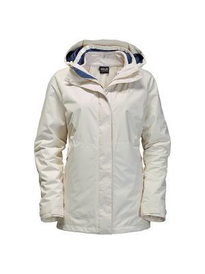 Куртка ARBORG 3IN1 Jack Wolfskin. Цвет: белый