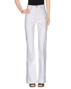 Джинсовые брюки NICE THINGS by PALOMA S.. Цвет: белый
