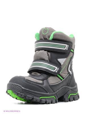 Ботинки Котофей. Цвет: серый, зеленый