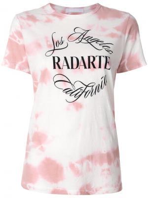 Футболка с логотипом Rodarte. Цвет: розовый и фиолетовый
