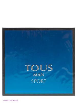 Туалетная вода Man Sport, 50 мл TOUS. Цвет: синий