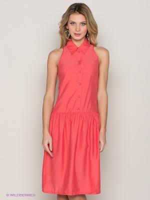 Платье Allezye. Цвет: коралловый