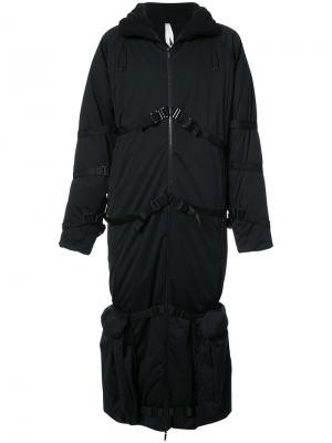 Belt detail padded coat Cottweiler. Цвет: чёрный