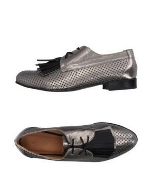 Обувь на шнурках GIONATA. Цвет: свинцово-серый