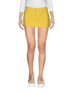 Джинсовая юбка 2W2M. Цвет: желтый